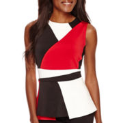 Worthington® Sleeveless Colorblock Peplum Top