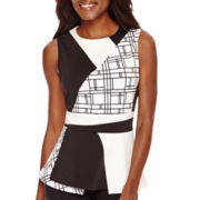 Worthington® Sleeveless Colorblock Peplum Top - Tall