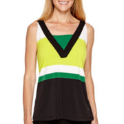 Worthington® Sleeveless Colorblock Top