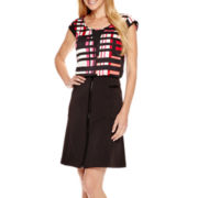 Worthington® Sheer-Inset Blouse or Zip-Front Skirt