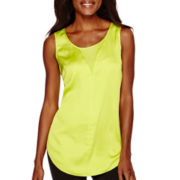 Worthington® Sleeveless Sheer-Inset Blouse