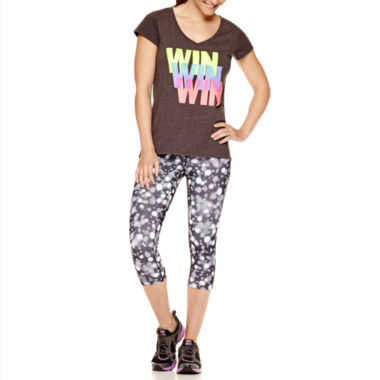jcpenney.com | Xersion™ High-Low Graphic T-Shirt or Print Capris