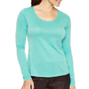 Xersion™ Long-Sleeve Metallic T-Shirt