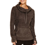 Xersion™ Long-Sleeve Hooded Cowlneck Pullover - Tall