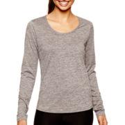 Xersion™ Long-Sleeve Melange T-Shirt