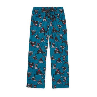 Arizona Little & Big Boys Pajama Pants, Color: Santa Shark - JCPenney