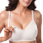 Leading Lady® Lace-Trim Wirefree Nursing Bra