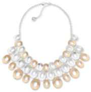 Liz Claiborne Two-Tone Bib Necklace