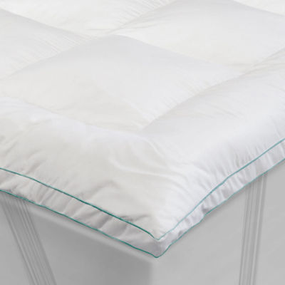 "memoryloft® deluxe 3"" memory foam and fiber mattress topper"