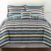 Owen Striped Complete Bedding Set with Sheets Collection