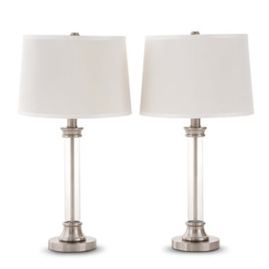 jcpenney.com | JCPenney Home™ Set of 2 Acrylic Column Table Lamps