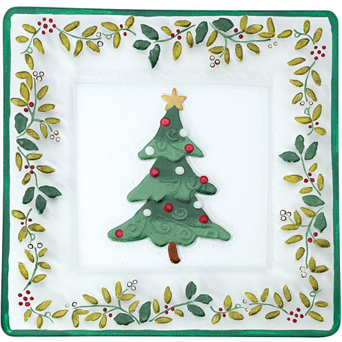 Pfaltzgraff® Winterberry Square Glass Platter