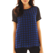 MNG by Mango® Plaid Blouse