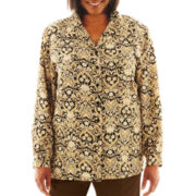 Cabin Creek® Long-Sleeve Print Blouse - Plus