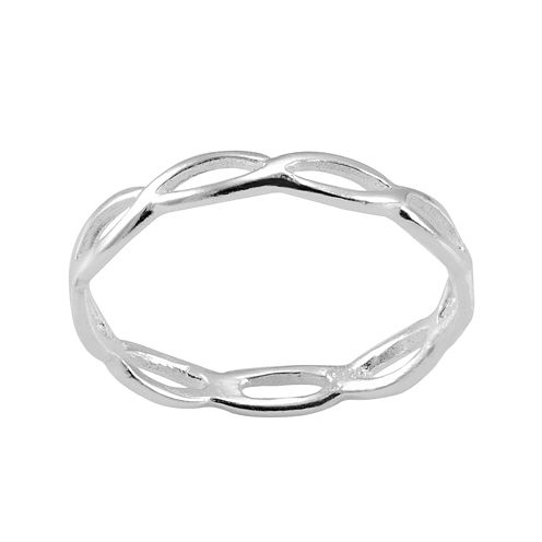 itsy bitsy™ Sterling Silver Loop Pinky Ring
