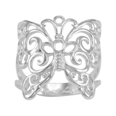 jcpenney.com | Silver-Plated Filigree Butterfly Ring