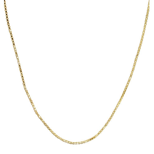 "Made in Italy 14K Yellow Gold 22"" Hollow Box Chain"