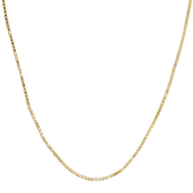 "jcpenney.com | 14K Yellow Gold 24"" Hollow Box Chain"