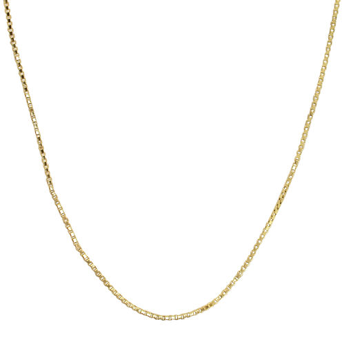 "Made in Italy 14K Yellow Gold 24"" Hollow Box Chain"