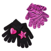 Toby 2 pack Space Dyed Glove Set - Girls 6-16
