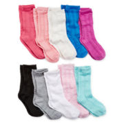 Maidenform 10-pk. Cable Anklet Socks - Girls