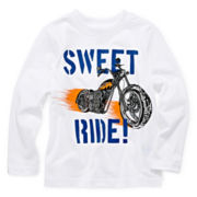 Okie Dokie® Long-Sleeve Graphic Knit Tee – Boys 2t-6