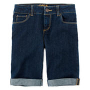 Arizona Cuffed Bermuda Shorts - Girls 7-16 and Plus