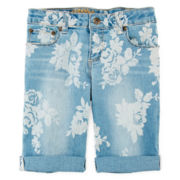 Arizona Print Bermuda Shorts - Girls 7-16, Slim and Plus