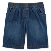 Okie Dokie® Pull-On Denim Shorts – Boys 4-7