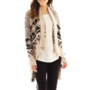 i jeans by Buffalo Long-Sleeve Open-Front Print Cardigan Sweater