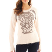 i jeans by Buffalo Long-Sleeve Graphic Sweater