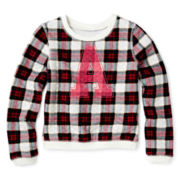 Arizona Long-Sleeve Quilted Pullover Knit Top – Girls 2t-6
