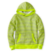 Xersion™ Striped Fleece Pullover Hoodie - Girls 7-16 and Plus