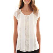 Heart & Soul® Short-Sleeve High-Low Top