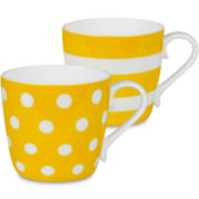 Konitz Dots and Stripes Set of 2 Mugs