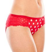 Flirtitude® Mesh and Lace Cheeky Panties