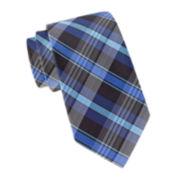 JF J. Ferrar® Peter Plaid Slim Tie