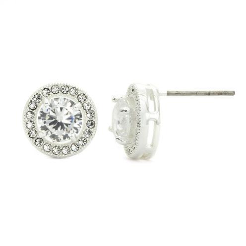 Sparkle Allure White Crystal Stud Earrings