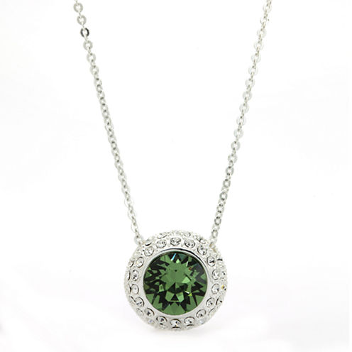 Sparkle Allure Green Crystal Pendant Necklace