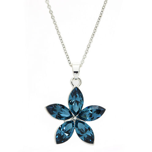 Sparkle Allure Blue Crystal Beaded Necklace