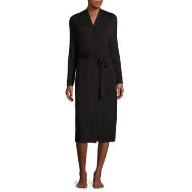 jcpenney.com | Ambrielle Long Sleeve Jersey Wrap Robe