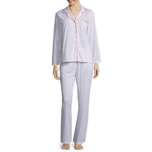 Adonna 2-pc. Leaf Pant Pajama Set