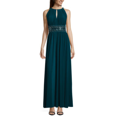 jcpenney.com | R & M Richards Sleeveless Embellished Fitted Gown-Talls