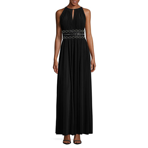 R & M Richards Sleeveless Embellished Fitted Gown-Talls