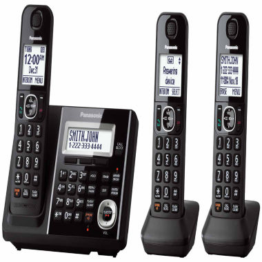 jcpenney.com | Panasonic KX-TGF343B Expandable Digital Cordless Answering System with 3 Handsets - Black