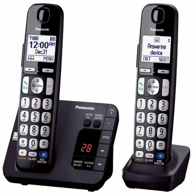 jcpenney.com | Panasonic KX-TGE232B Expandable Digital Cordless Answering System with 2 Handsets - Black