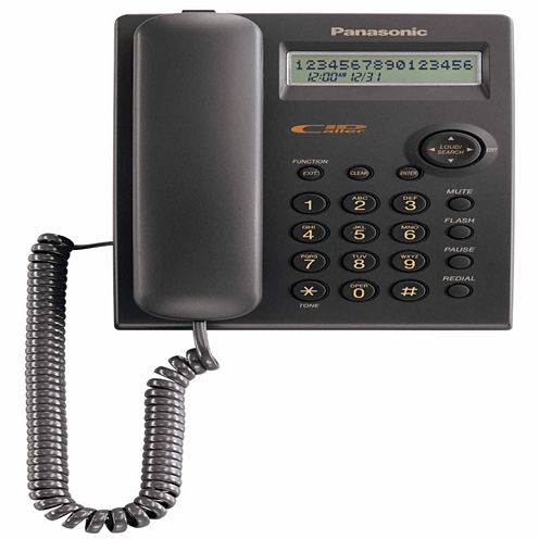 Panasonic KX-TSC11B Single-Line Integrated Phone System with Caller ID - Black