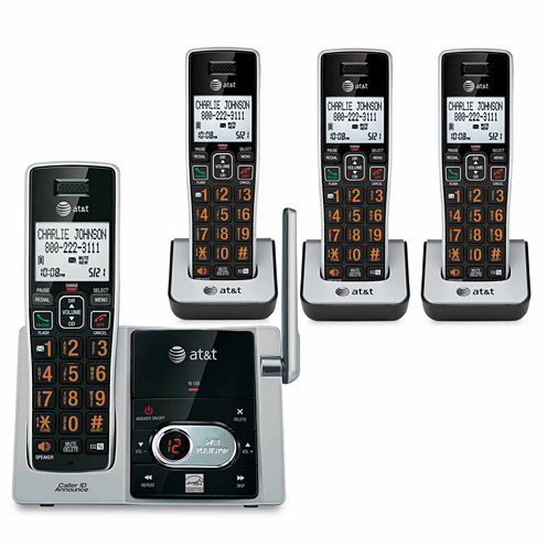 AT&T CL82413 DECT 6.0 Cordless Phone with Answering System - 4 Handsets