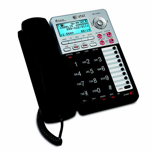 AT&T ML17939 2-Line Corded Answering System with Caller ID/Call Waiting
