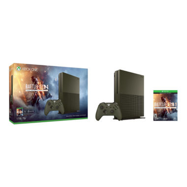 jcpenney.com | Microsoft - Xbox One S 1TB Battlefield™ 1 Special Edition Console Bundle - Military Green